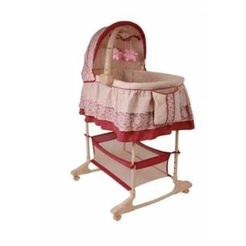 Best For Kids Stubenbett 4 in 1 Schaukelwiege Babybett...