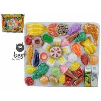 Best For Kids 41 TLG Lebensmittel Set für Spielküche...