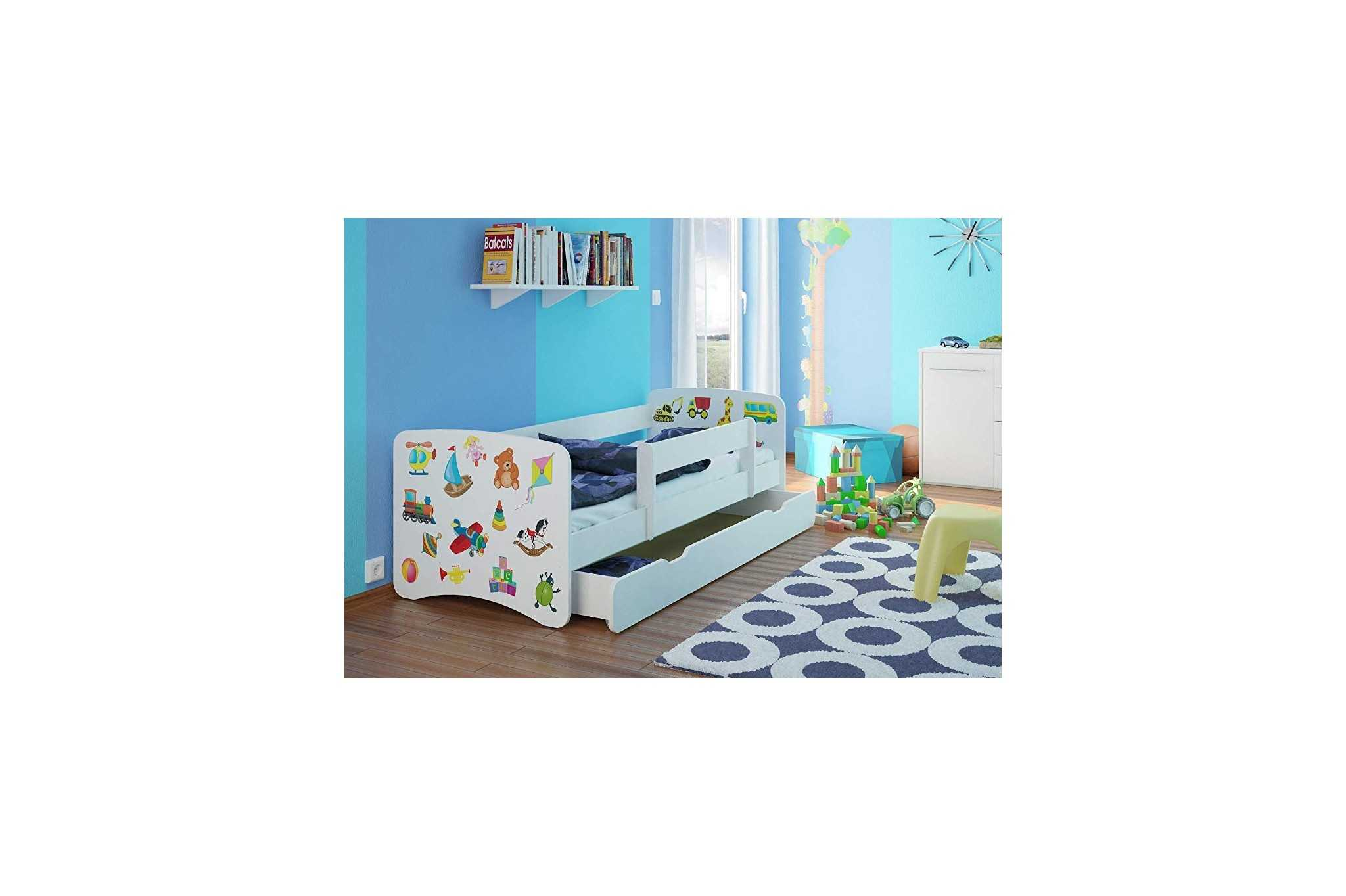 kinderbett mit cars kinderbett mit stauraum ca x cm with. Black Bedroom Furniture Sets. Home Design Ideas