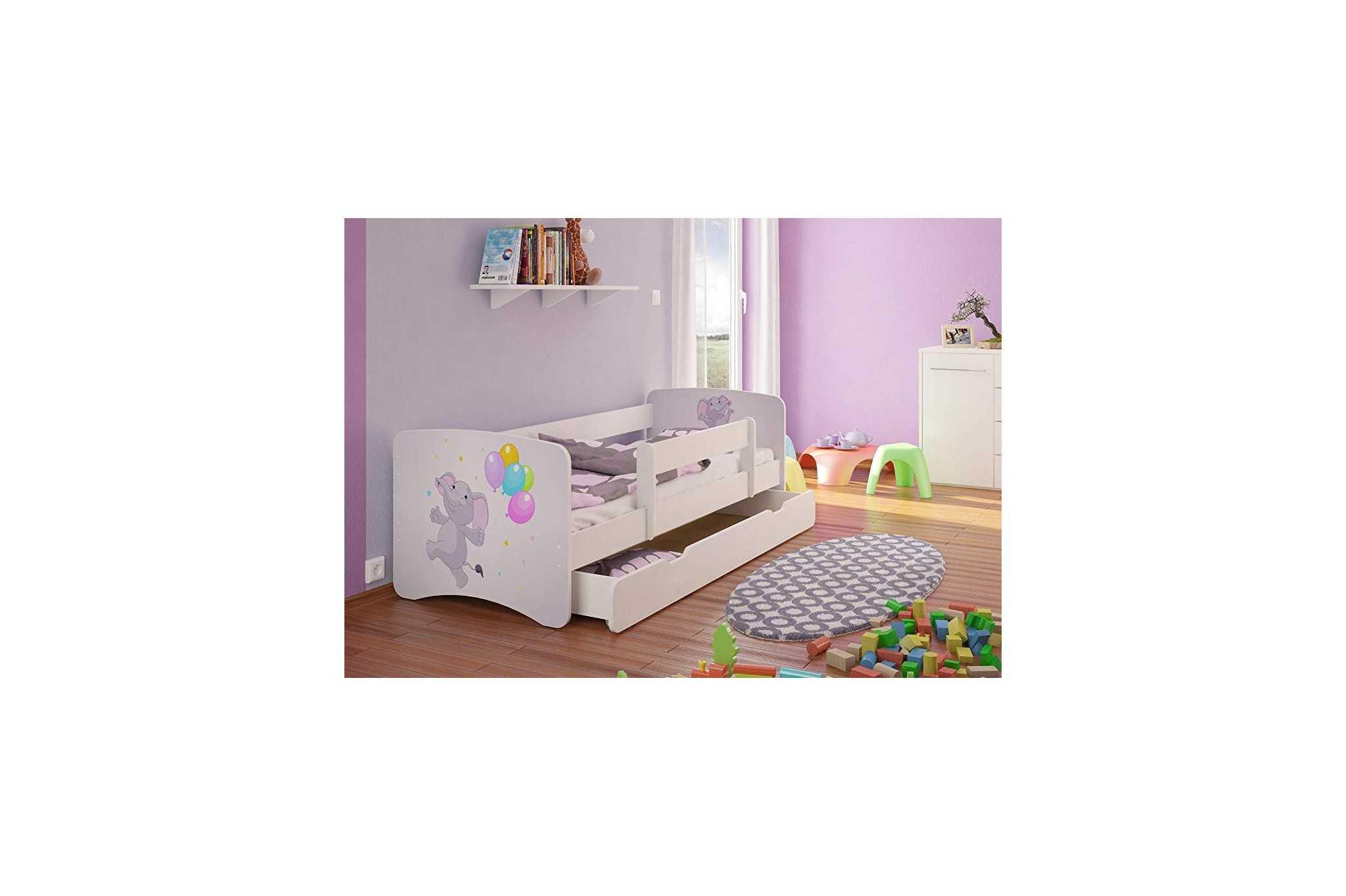 best for kids kinderbett mit rausfallschutz schublade. Black Bedroom Furniture Sets. Home Design Ideas
