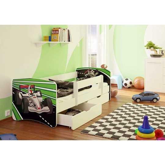 best for kids kinderbett mit rausfallschutz 2 schubladen. Black Bedroom Furniture Sets. Home Design Ideas