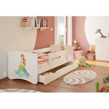 Best For Kids Kinderbett mit Rausfallschutz Schublade...