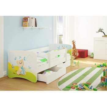 Best For Kids Kinderbett mit Rausfallschutz 2 Schubladen...