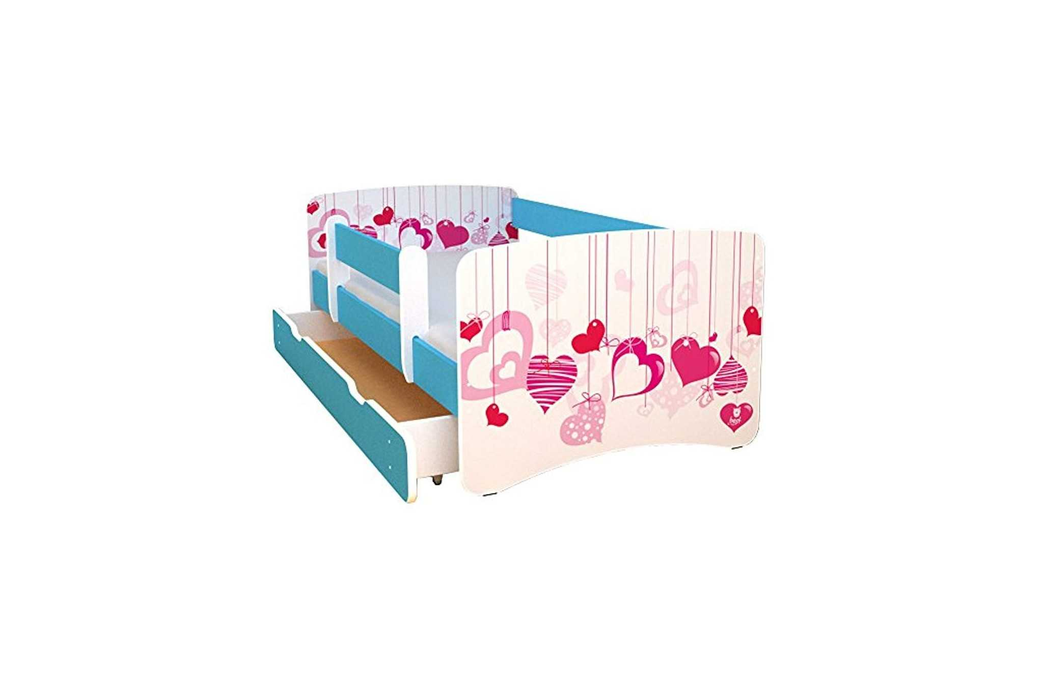 best for kids kinderbett 70x160 mit rausfallschutz bunte. Black Bedroom Furniture Sets. Home Design Ideas