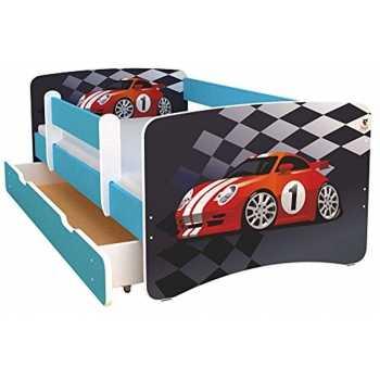 Best For Kids Kinderbett 80x160 mit Rausfallschutz bunte...