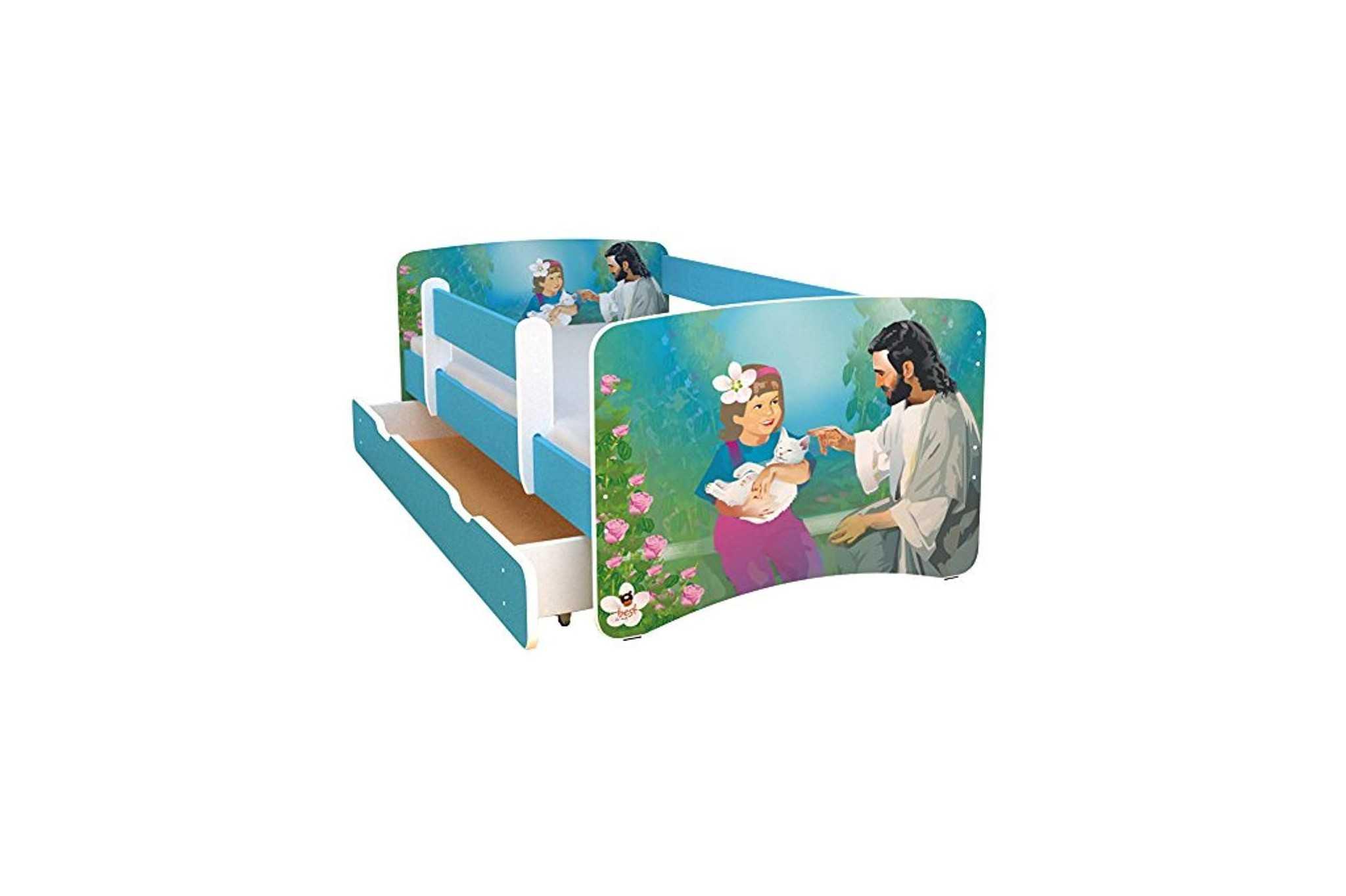 best for kids kinderbett 80x160 mit rausfallschutz bunte. Black Bedroom Furniture Sets. Home Design Ideas
