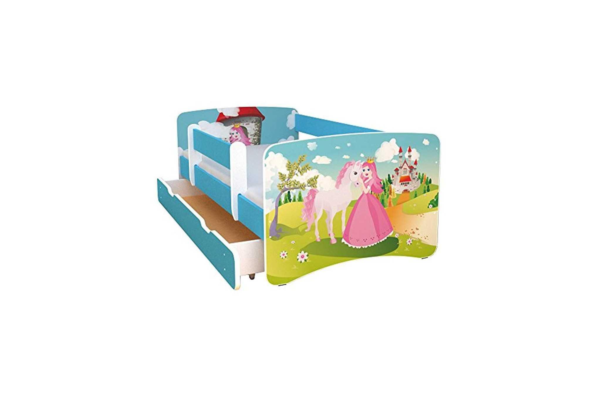 best for kids kinderbett 90x160 mit rausfallschutz bunte. Black Bedroom Furniture Sets. Home Design Ideas