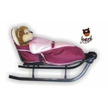 Best For Kids Schlitten für Kinder mit Fußsack,...