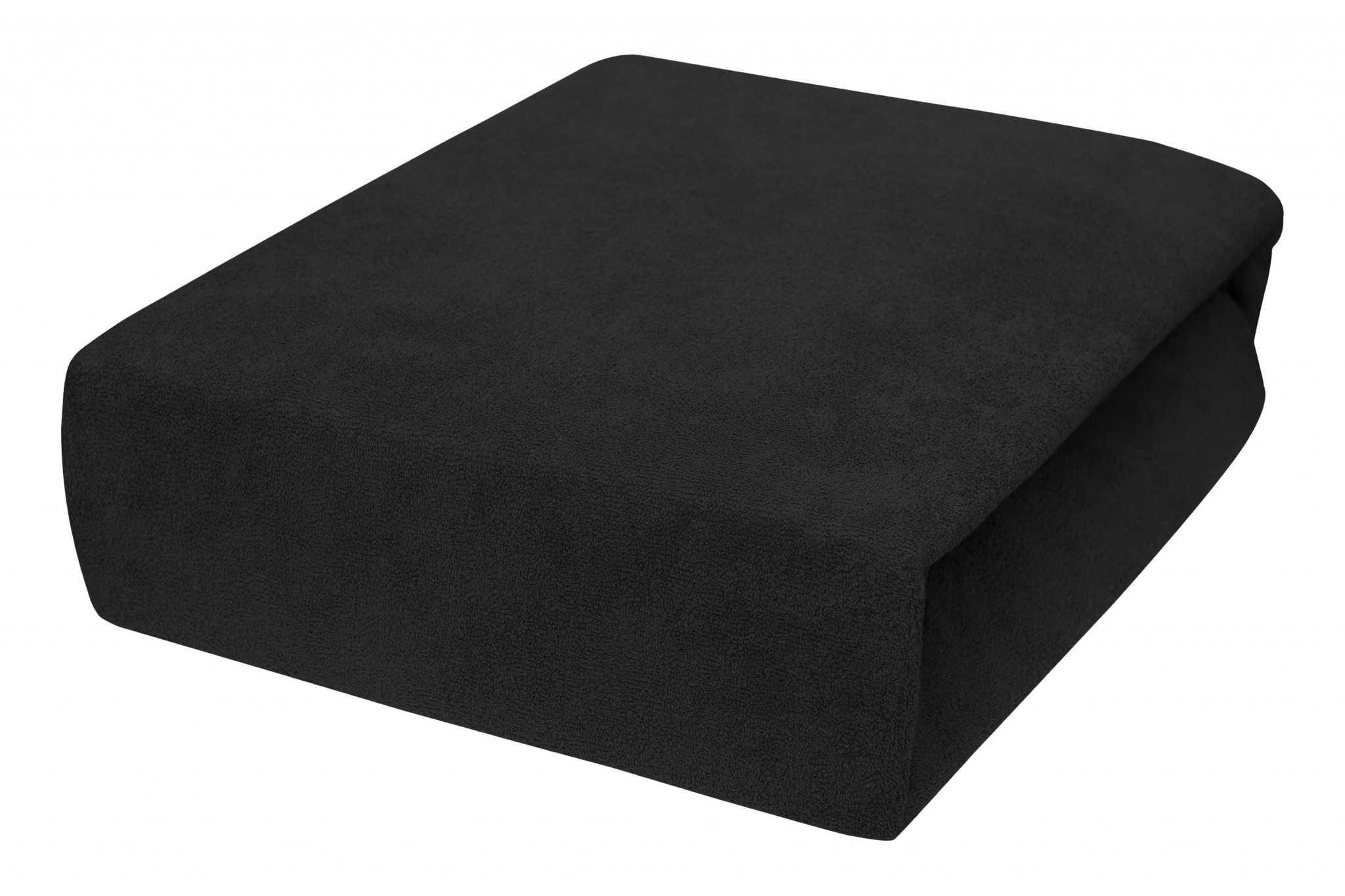 Schwarz Frottee Spannbettlaken Mit Gummizug Für Kinder 60x120cm