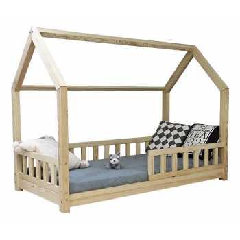 Best For Kids Kinderbett Kinderhaus mit Rausfallschutz...