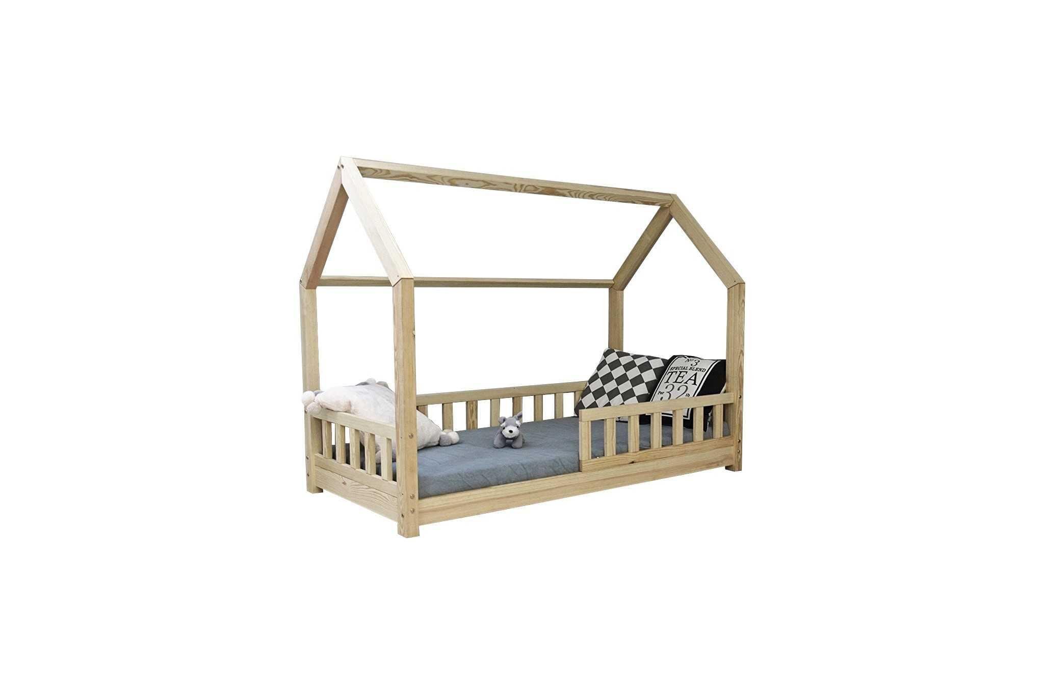 Kinderbett Mit Rausfallschutz 90x200 : best for kids kinderbett kinderhaus mit rausfallschutz und matratze ~ Watch28wear.com Haus und Dekorationen