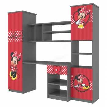 Disney Wandschrank für Kinderzimmer Kinderschreibtisch Schreibtisch für Schulkind Schülerschreibtisch Wandschrank mit Schubladen