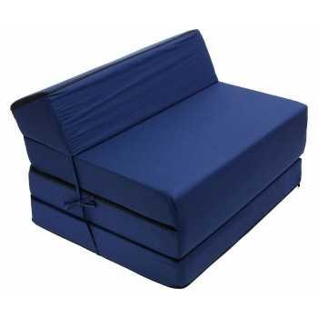 Best For Kids Kindersessel Marineblau Bettsessel Funktionssessel Jugend Kindermatratze zum schlafen und Spielen 3 in 1