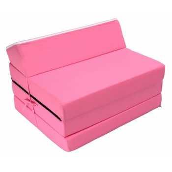 Best For Kids Kindersessel Pink Bettsessel Funktionssessel Jugend Kindermatratze zum schlafen und Spielen 3 in 1