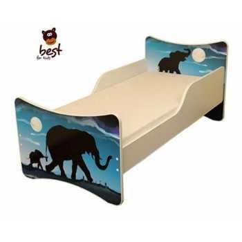 Best For Kids Hörnerrodel Schlitten Holzschlitten mit Rückenlehne 120cm Zugleine