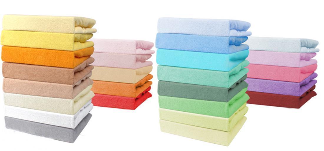 spannbettlaken spannbettuch frottee 70x140 70x160 80x160 80x200 90x200 usw ebay. Black Bedroom Furniture Sets. Home Design Ideas
