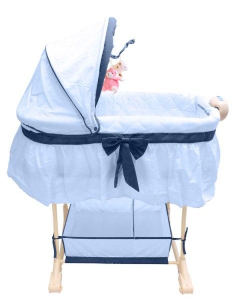 bestforkids stubenwagen babywiege balkonbett musik vibration nachtlicht blau ebay. Black Bedroom Furniture Sets. Home Design Ideas