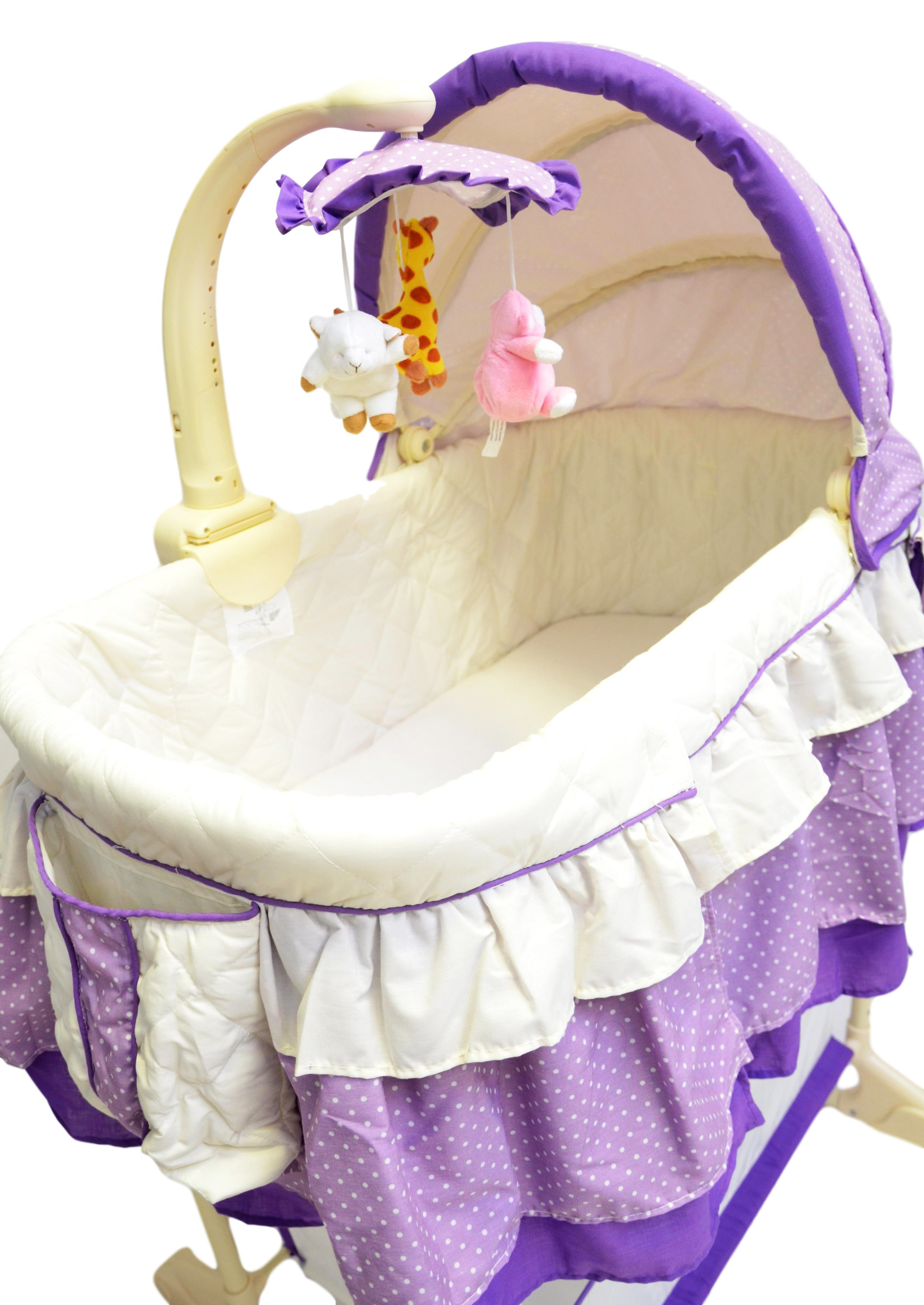 best for kids stubenwagen babywiege babybett babyschaukel violett ebay. Black Bedroom Furniture Sets. Home Design Ideas