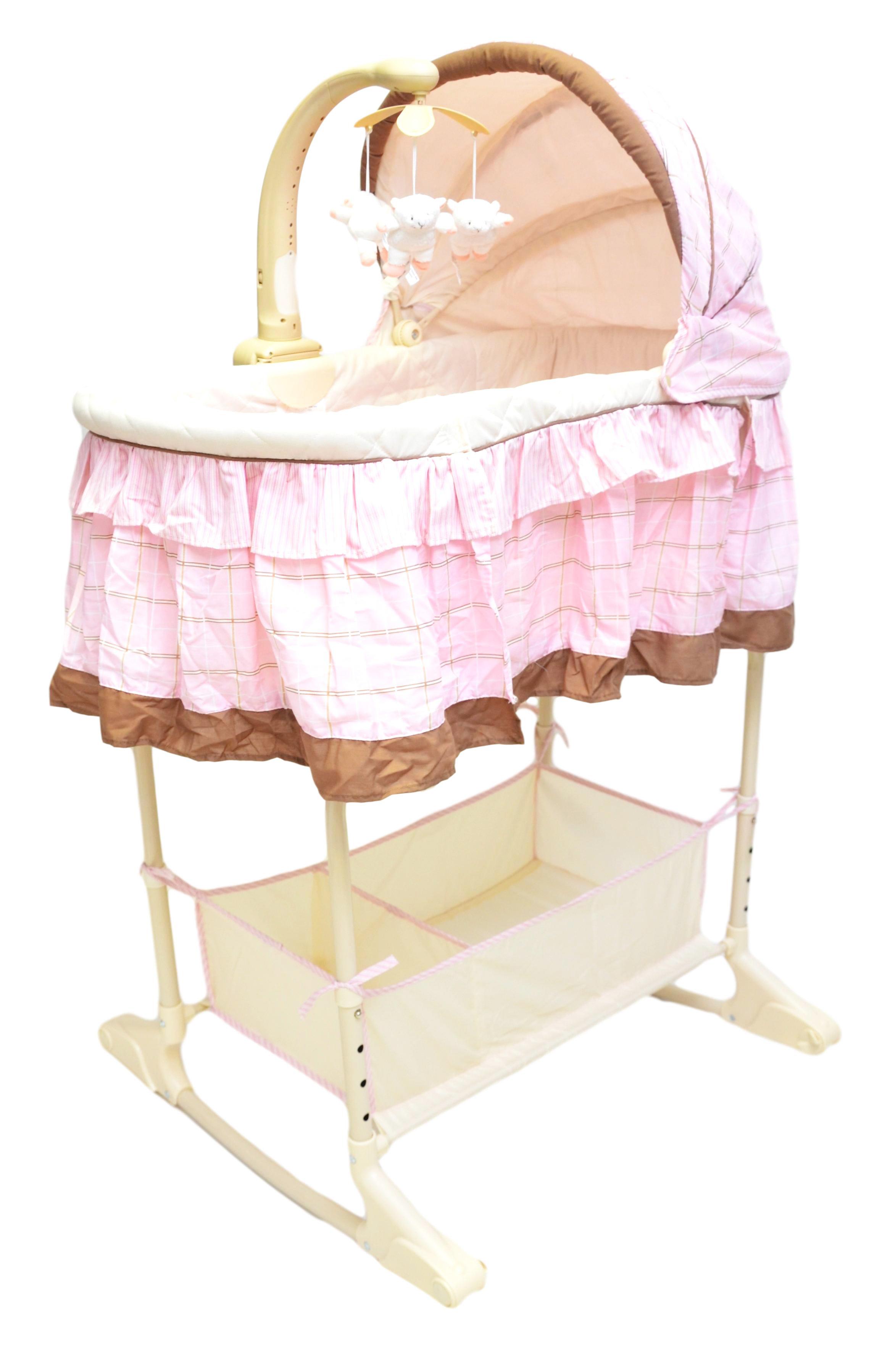 best for kids stubenwagen babywiege babybett babyschaukel stubenbett rosa ebay. Black Bedroom Furniture Sets. Home Design Ideas