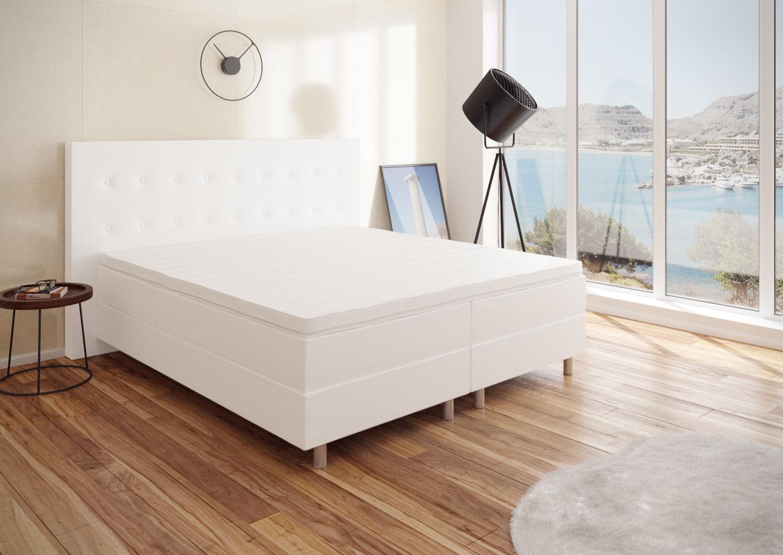 best for you boxspringbett neo hotelbett wei 120x200 140x200 160x200 180x200 ebay. Black Bedroom Furniture Sets. Home Design Ideas